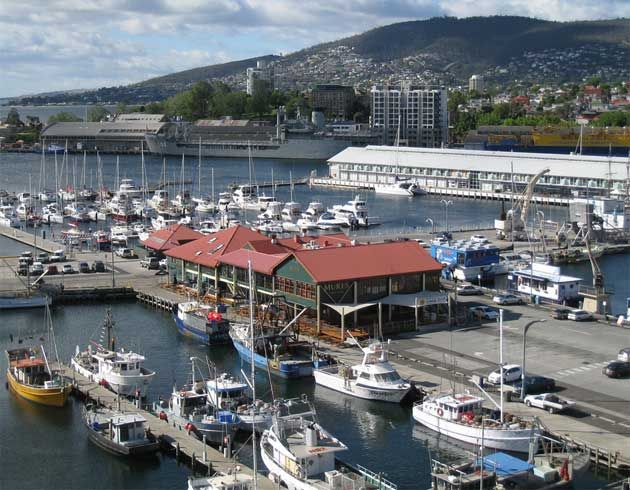 Constitution Dock is the harbour in Hobart Tasmania.  It is a short walk to the centre of the city.  This is where the Sydney to Hobart yachts are moored after their race which starts on Boxing Day 26th December.