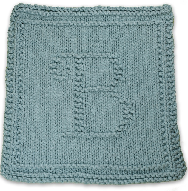 Monogrammed Dishcloth Letter B pattern by Heather Kate ...