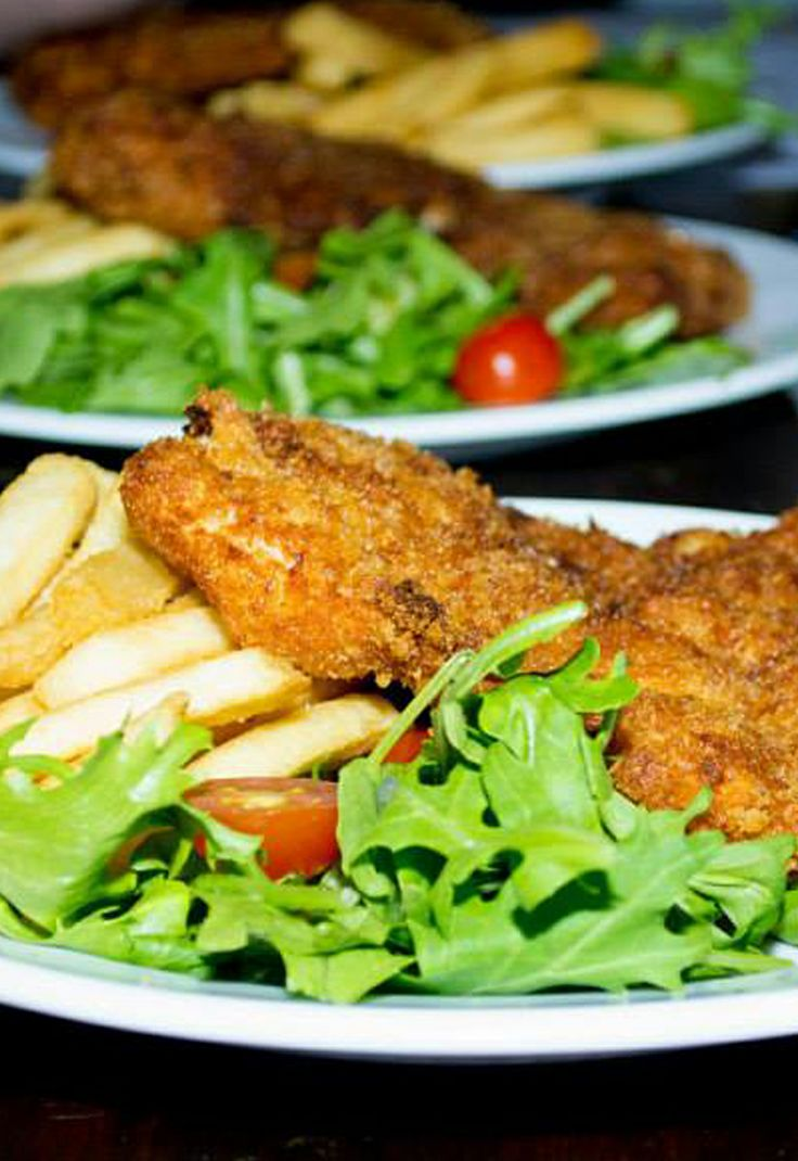 Schnitzel with chips and Salad please! http://www.schnitzntits.com.au