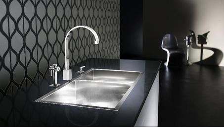 1. Flush Mounted double square sink