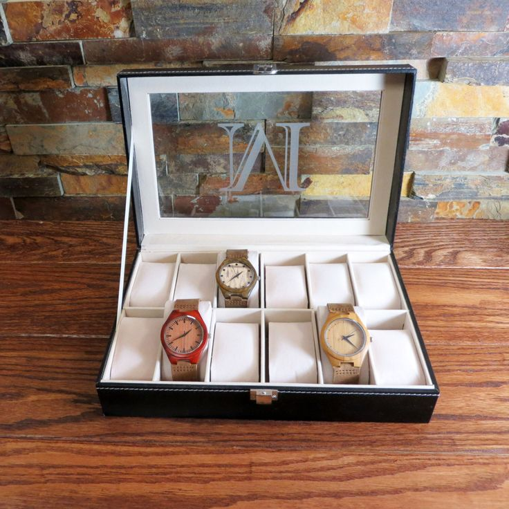 Personalized Watch Box Engraved, Groomsmen Gift, Best Man, Fathers Day Gift by donebetter on Etsy https://www.etsy.com/listing/229886839/personalized-watch-box-engraved