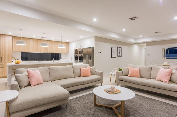 Scandinavian Living Room in our Merlot Display Home