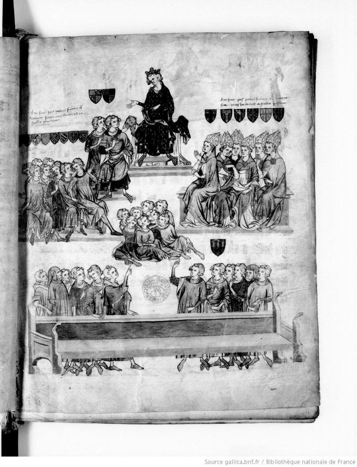 Procès de Robert III d'Artois, comte de Beaumont - Paris, BnF, fr. 18437, fol. 2 (Paris, vers 1336)