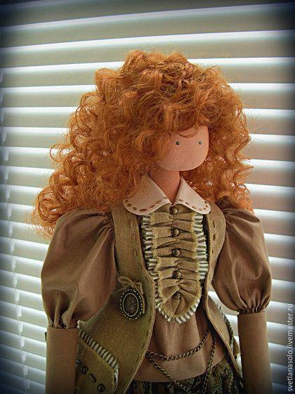 Коллекционные куклы ручной работы. Ярмарка Мастеров - ручная работа. Купить Кукла Оксана. Handmade. Хаки, стиль бохо