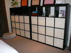IKEA Hackers: Super swank wall-o-shelves dresser