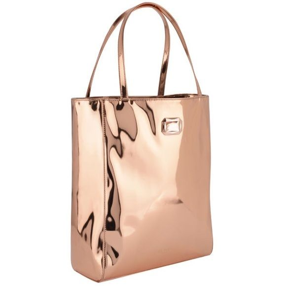 Ted Baker Rose Gold MOTIA Mirrored Shopper Bag New, never used Ted Baker shopper bag tote Ted Baker Bags Totes