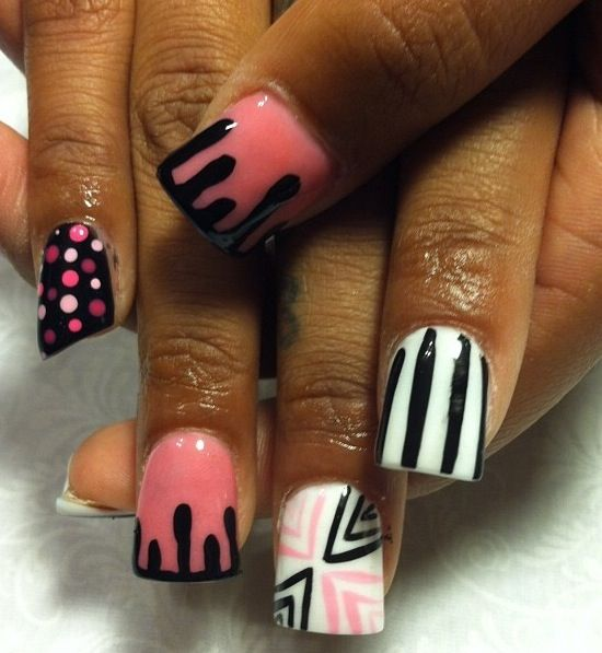 Acrylic nails by Thelma at Thelma's VIP Nail Salon and Spa