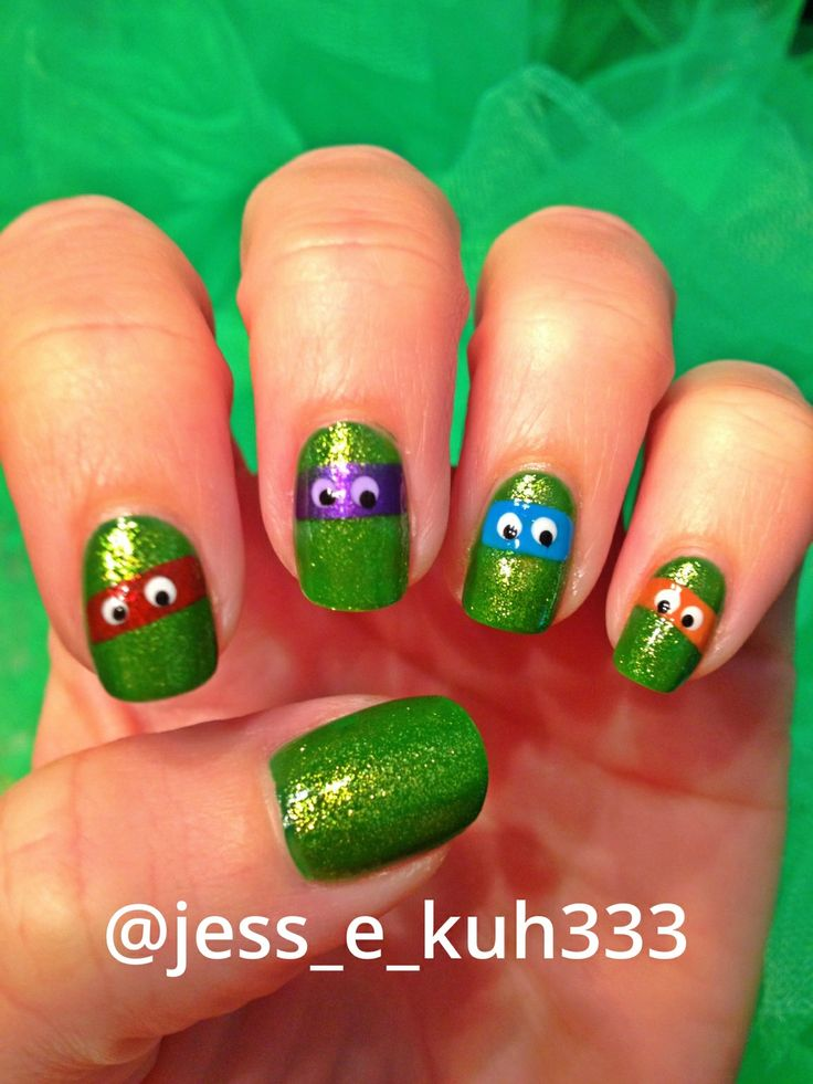 Love teenage mutant ninja turtles nails?!