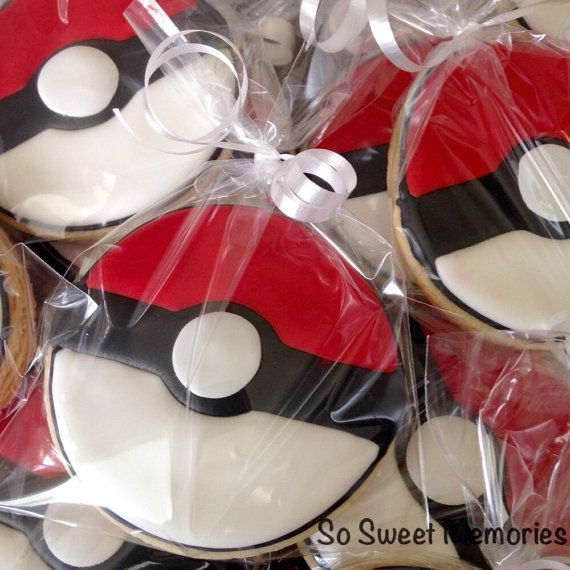 Pokeball Sugar Cookies. Each cookie is baked fresh to order! These delicious treats are perfect for Pokemon fans. #scottsmarketplace