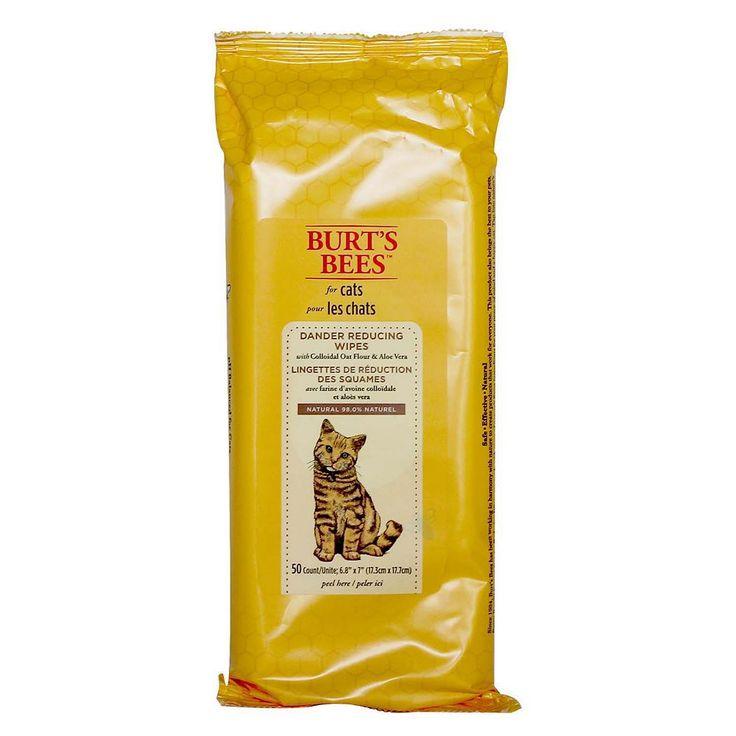 Burt's Bees Dander Reducing Cat Wipes, Multicolor