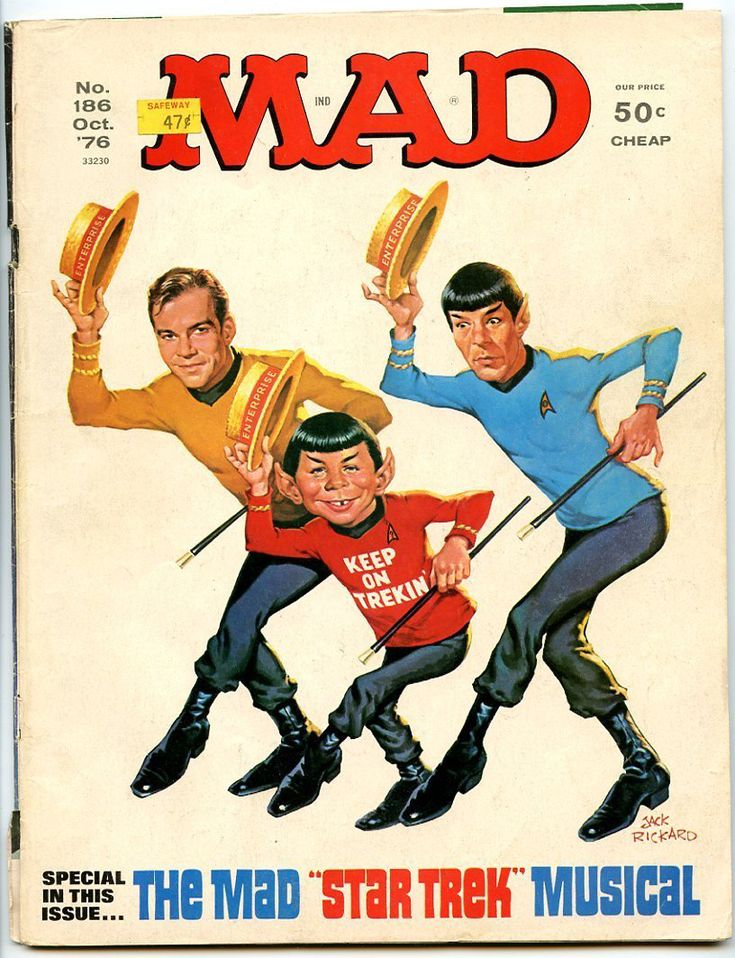 Mad Magazine - Number 186 - October 1976 - The Mad Star Trek Musical - EXCELLENT…