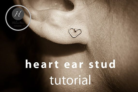 Heart Ear Stud Tutorial pdf earring finding by HelenaBausJewellery