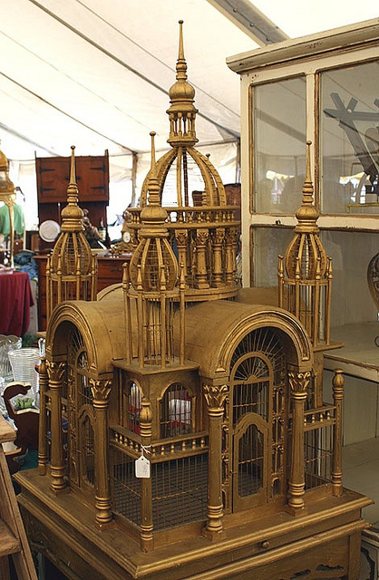 Antique bird cage by Channel Z, via Flickr