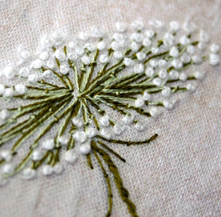 Queen Annes Lace Hand Embroidery Home Decor by Waterrose on Etsy. $96.00, via Etsy. I so wish I could do embroidery.