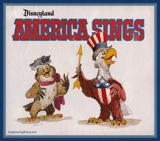 """America Sings - I LOVED this """"ride"""" as a kid - the animatronics filled me with wonder, and this is a great site that acts as a tribute and lets me re-live a little..."""