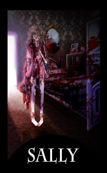 sally and creepypasta image