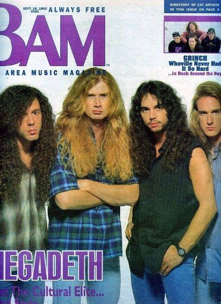 Nick Menza, Marty Friedman, Dave Mustaine & Dave Ellefson