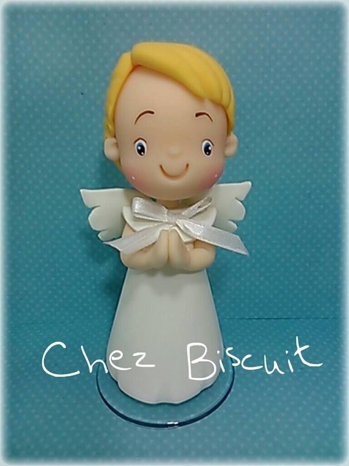 Biscuit, anjo de biscuit, angel in clay, cold porcelaine, porcelana fria
