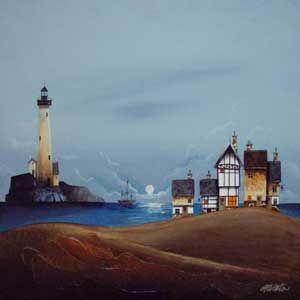 Gary Walton original 'Life by the Sea'