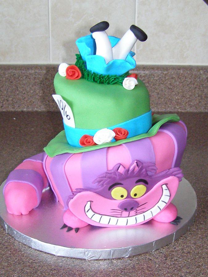 Birthday Cake Idea Cheshire Cat Kids B Day Ideas Pinterest