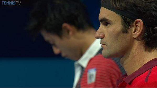 【ATPワールドツアー・ファイナルズ】予選第2戦 錦織圭、R・フェデラーの最強テニスの前に完敗