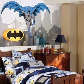 Bedroom , 9 Cool Superhero Bedroom Ideas : Batman Theme Bedroom Ideas On  Mural And Beddding
