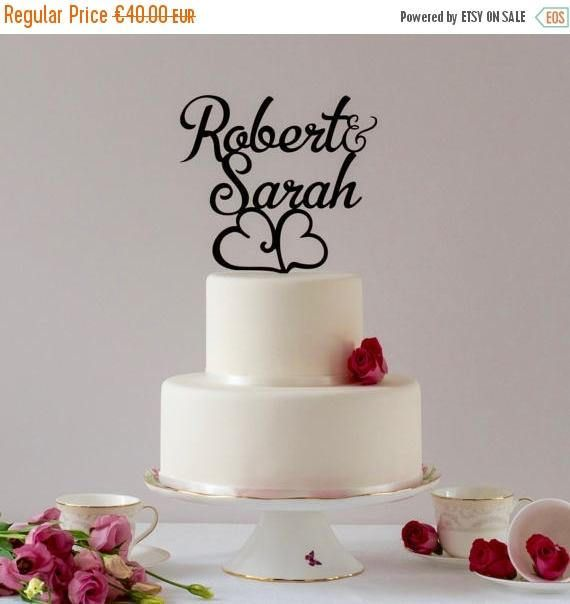 First name Topper, Custom Cake Topper, Personalized Topper, Wedding Cake Topper, Name Cake Topper, Wedding Cakes decoration gold cake topper   Tell your stories of friendship, attraction, laughter, and love on your wedding day with a personalized first name wedding cake topper in
