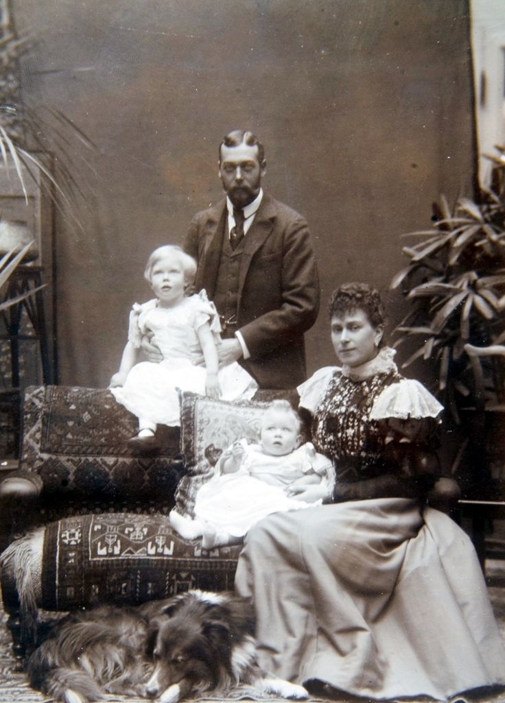 King George and Queen Mary and their sons Edward and Albert