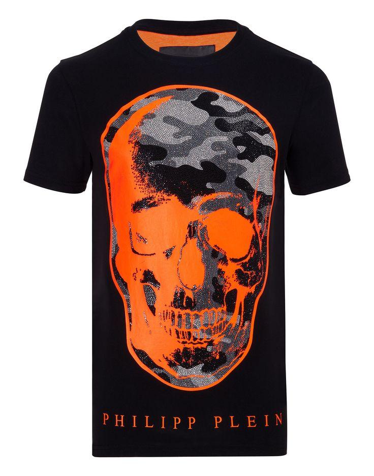 "PHILIPP PLEIN T-SHIRT ""CAMO SKULL"". #philippplein #cloth #"