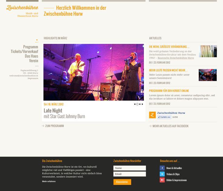 Webdesign Zwischenbühne, Startpage