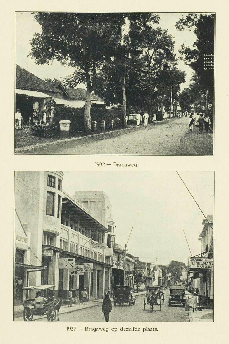 Bandoeng Bragaweg 1902 & 1927.