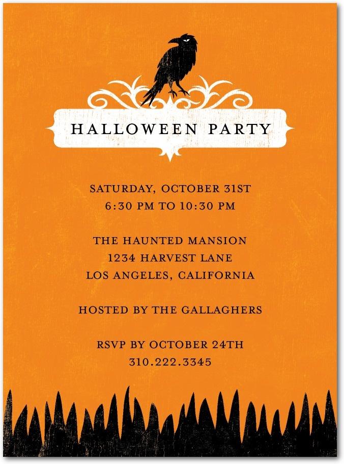 halloween party invitations ravin raven - Cute Halloween Poem