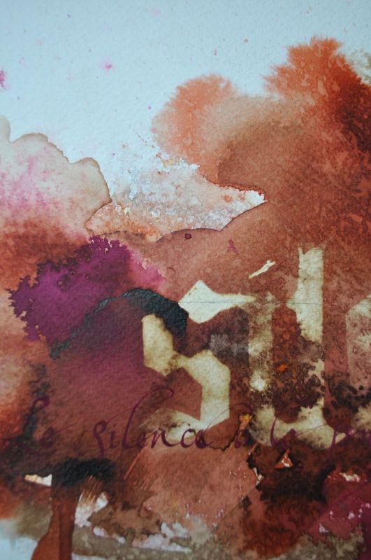 Encres Et Javel Coeur Cannelle Encre Peinture Abstraite Et