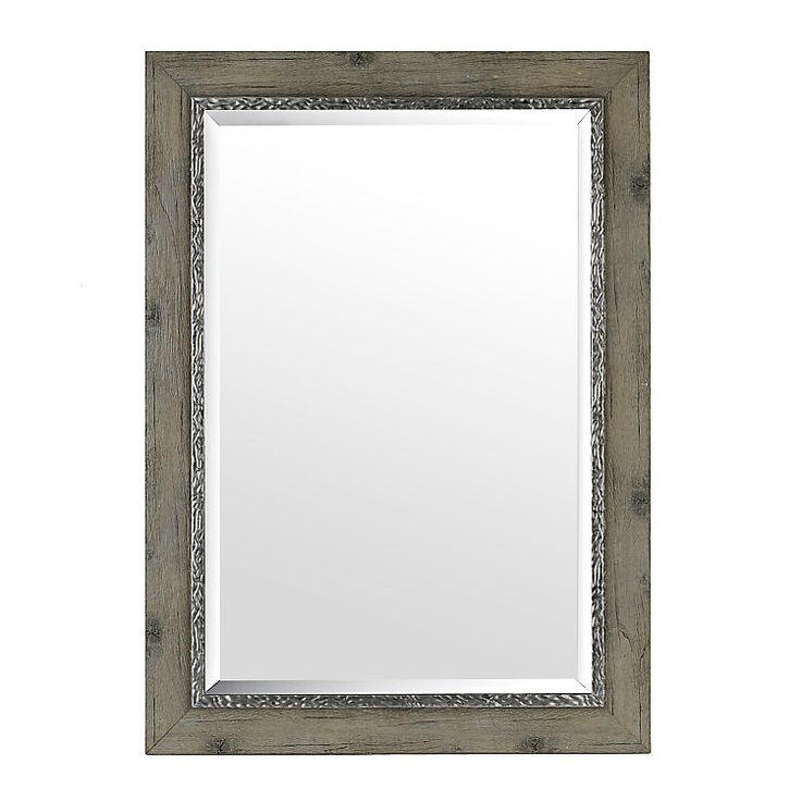 Weathered Gray Framed Mirror, 31x43 | Kirklands