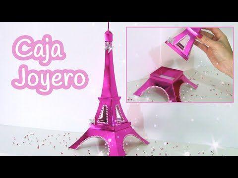 Manualidades: CAJA o JOYERO Torre Eiffel - Innova Manualidades - YouTube