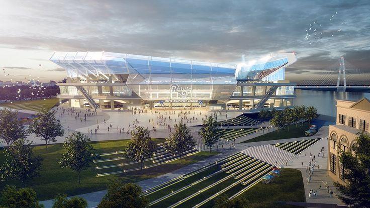 Fly-Through: New St Louis NFL Stadium