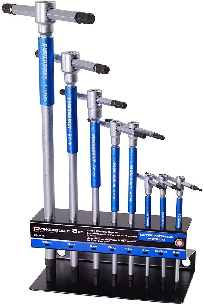 Powerbuilt 8 Pc Metric T Handle Hex Allen Key Wrench Set W Storage Rack 941645 Amazon Com Wrench Set Best Hand Tools Cool Gadgets To Buy