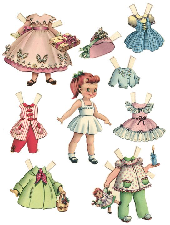 1950s paper dolls-cute clothes...