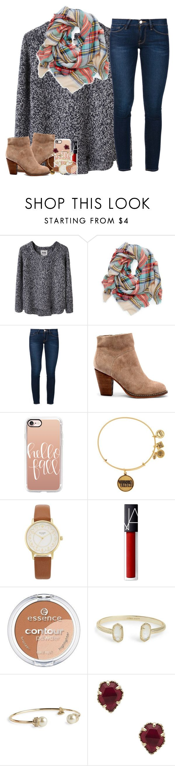 """{ i want you to be mine again, baby }"" by ellaswiftie13 ❤ liked on Polyvore featuring Acne Studios, Frame, Sole Society, Casetify, Alex and Ani, Kate Spade, NARS Cosmetics, Essence, Kendra Scott and Vera Bradley"