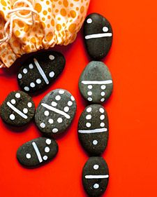 Rock Dominoes. A perfect rainy day project.