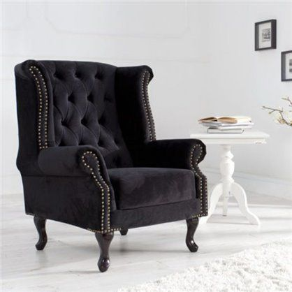 Fotel Chesterfield black