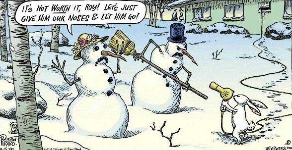Cute and funny snowman cartoon!