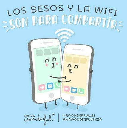 Los besos y la wifi son para compartir, ¿verdad? ;) ¡#BuenasNoches! www.createastyle.com #MrWonderful
