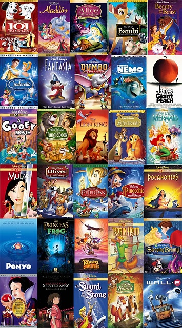 Disney Movies... I've seen all of these more than once lol
