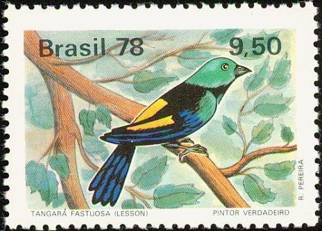 Tangara Fastuosa, Brazilian stamp