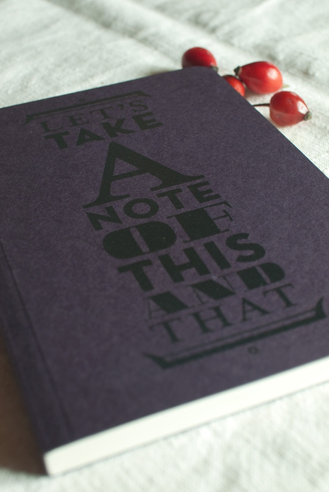 let's take noto, typograhic cover from recycled paper