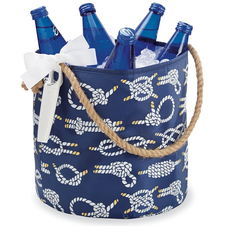 Rope Knot Nautical Party Bucket... or use as storage bin! On sale: $18.99