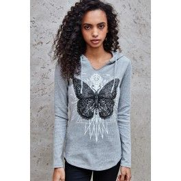 Butterfly Graphic Waffle Knit Top