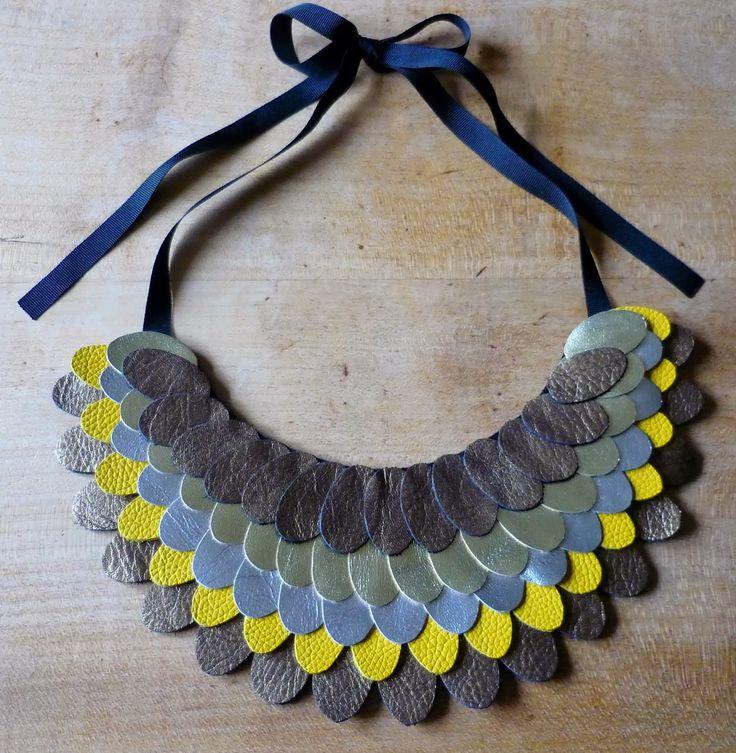 DIY plastron collier en cuir