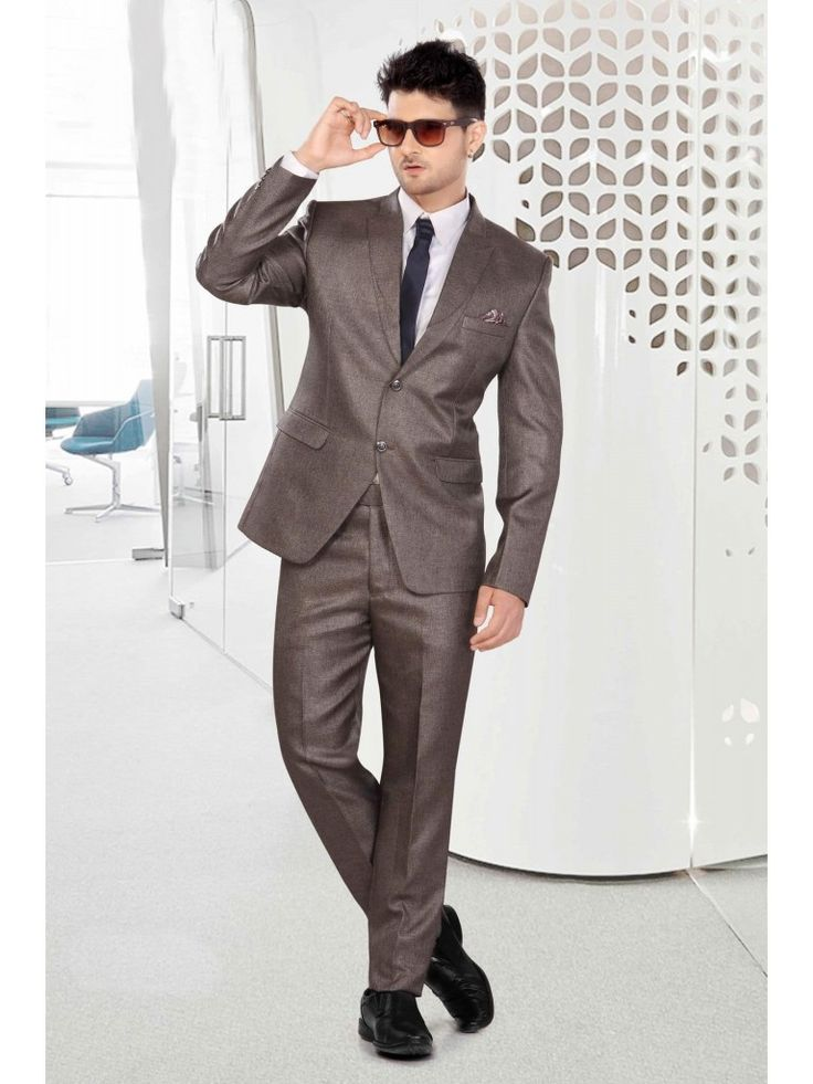 Solid Rayon Men Suit